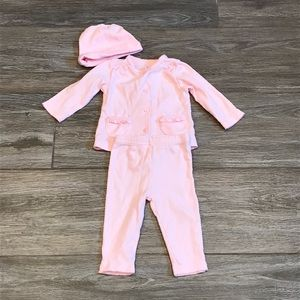 Precious Firsts 3 piece outfit pink 6 month